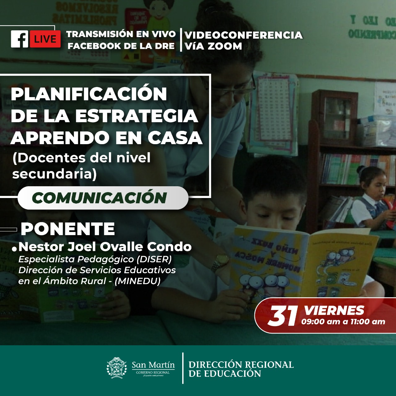 VIERNES 31 DE JULIO, CONTINUAMOS CON NUESTRAS CAPACITACIONES A CARGO DE ESPECIALISTAS DEL MINISTERIO DE EDUCACIÓN COMUNICACIÓN ÓN